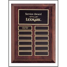 P3528 Perpetual 12 Plate Cherry finish Plaque